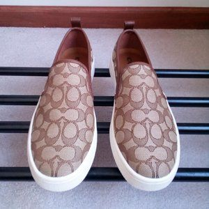 COACH Women Signature Slip On Sneakers - NEW NWOB